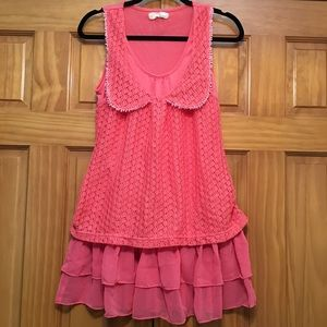 a'reve Anthropologie Coral Lace Top - Size Medium